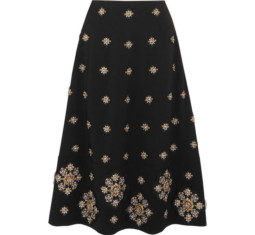 Lottie Embellished Crepe Midi Skirt by Elizabeth and James