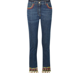 Cropped Embellished High-Rise Skinny Jeans by Etro