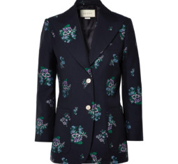 Cotton and Wool-Blend Jacquard Blazer by Gucci