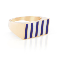 jessica biales striped signet block ring