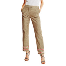 journe straight linen trousers