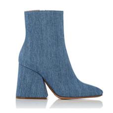 maison margiela angled heel denim ankle boots