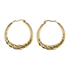 maje twisted hoop earrings