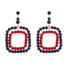 marni beaded square hoop earrings
