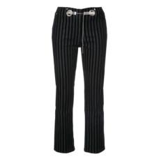 miaou morgan striped velvet pant