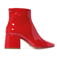 mm6 maison margiela patent leather ankle boots