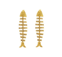 Pavé Fish Earrings by Oscar de la Renta