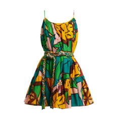 rhode resort nala pineapple print cotton dress