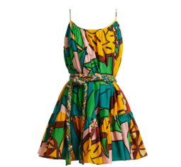 Nala Pineapple-Print Cotton Dress by Rhode Resort