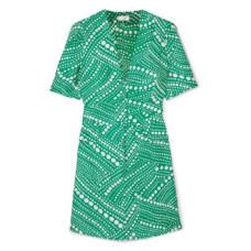 rixo london laura printed crepe mini dress