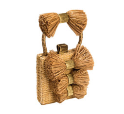 Fiocco Box Straw Bag by Sanayi 313