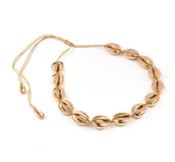 Gold Puka Necklace by Tohum