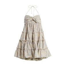 zimmermann helm botanical print linen and cotton blend dress