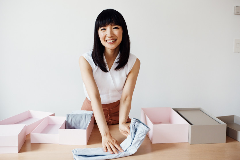 marie kondo launches konmari organization boxes coveteur. Black Bedroom Furniture Sets. Home Design Ideas