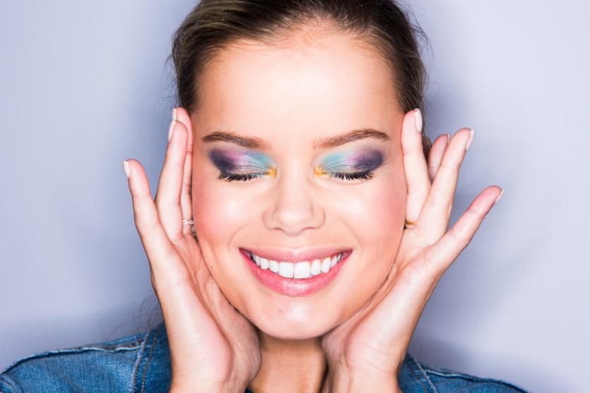 rainbow smoky eyeshadow tutorial