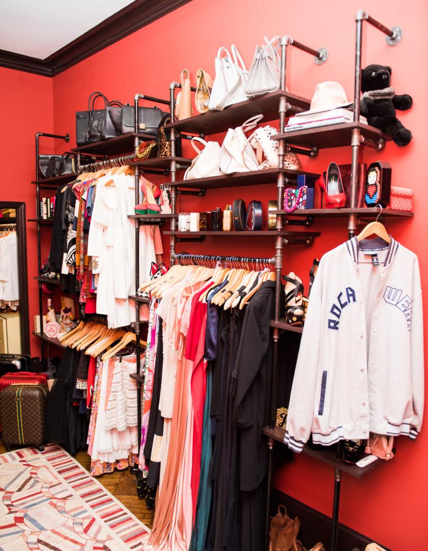 inside jessica hart closet