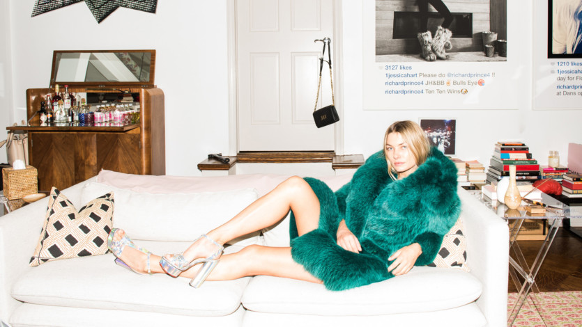 Jessica Hart Has a Thing for Bedazzled Platforms and BMX Bikes