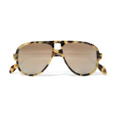 acne studios hole aviator style tortoiseshell acetate mirrored sunglasses