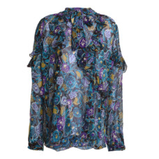 anna sui pussy bow printed silk top