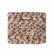 binge knitting sandstone clutch