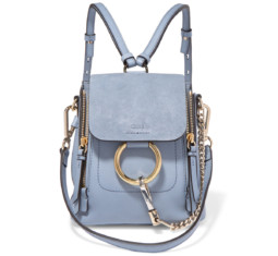 Faye Mini Textured-Leather and Suede Backpack by Chloé