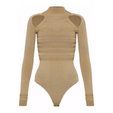 cushnie et ochs cutout ribbed knit bodysuit