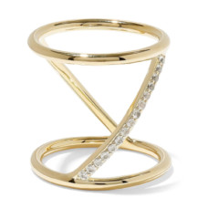 elizabeth and james gold tone crystal ring