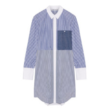 elizabeth and james jay striped cotton poplin mini shirt dress