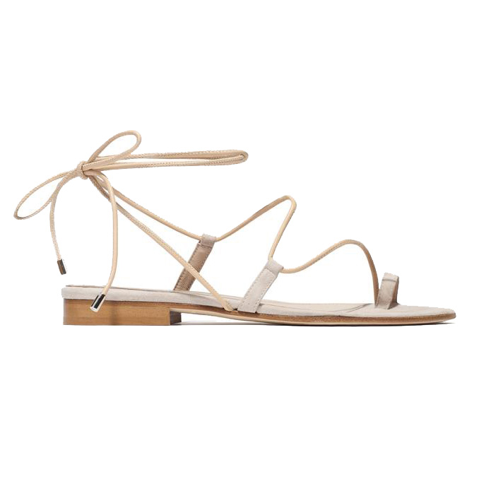 Shop the Barely There Lace Up Sandal Trend Coveteur