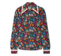 Floral-Print Silk Shirt by Etro