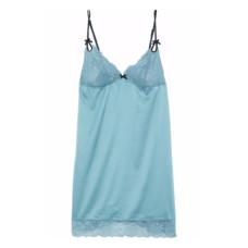 heidi klum intimates lace paneled satin chemise