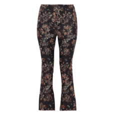 iro cropped floral jacquard flared pants