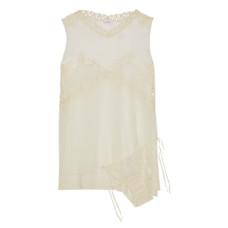 la perla guipure lace trimmed silk chiffon camisole and panty set
