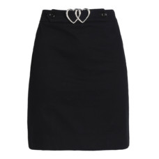 love moschino buckled cotton blend mini skirt