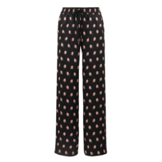 markus lupfer alexis printed silk satin track pants