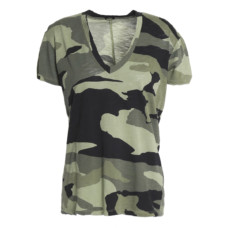 monrow printed slub cotton jersey t-shirt