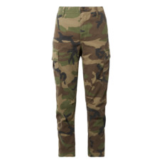 re done camouflage print cotton canvas tapered pants