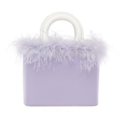 Nic Bag Lavender Patent by Staud