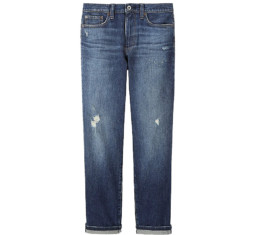 Women High-Rise Boyfriend-Fit Jeans by Uniqlo
