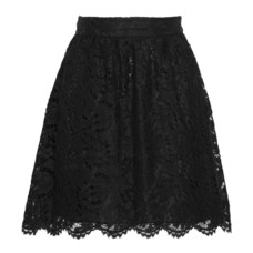 valentino cotton blend corded lace mini skirt