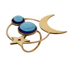 Blue Stone Moon Ring by Dior