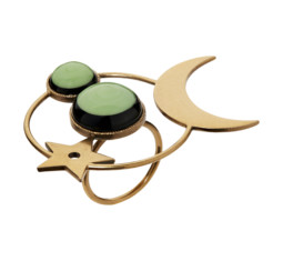 Green Stone Moon Ring by Dior
