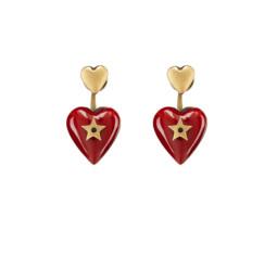 Heart Drop Earrings by Dior