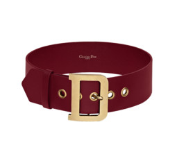 DiorQuake Red Calfskin Belt by Dior