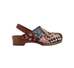 Clog in Embroidered Patchwork by Dior