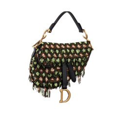 Saddle Bag in Embroidered Canvas by Dior