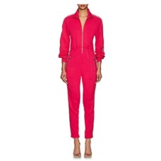 area lame trimmed jumpsuit