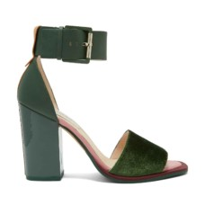 ted baker errita block heel sandals in dark green