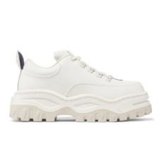 eytys angel glossed leather platform sneakers