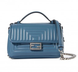 Double Baguette Micro Leather Shoulder Bag by Fendi